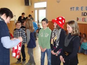 Przywitanie przez dzieci