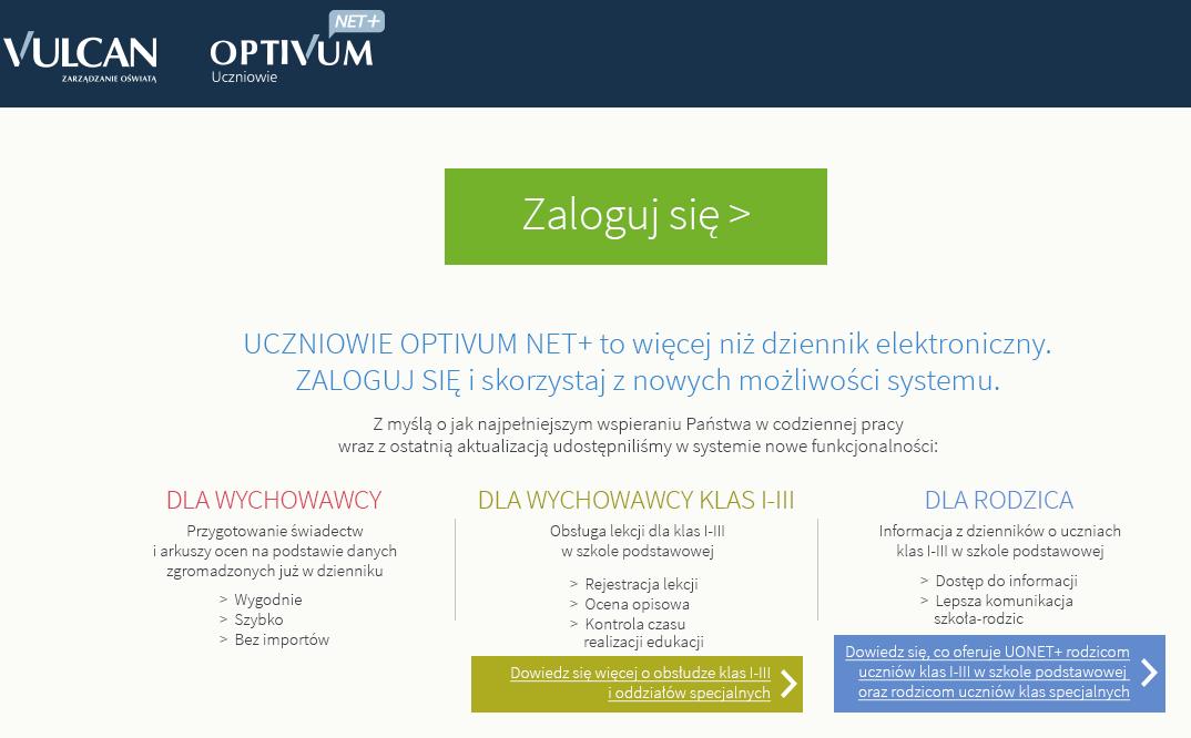 E-Dziennik Strona startowa