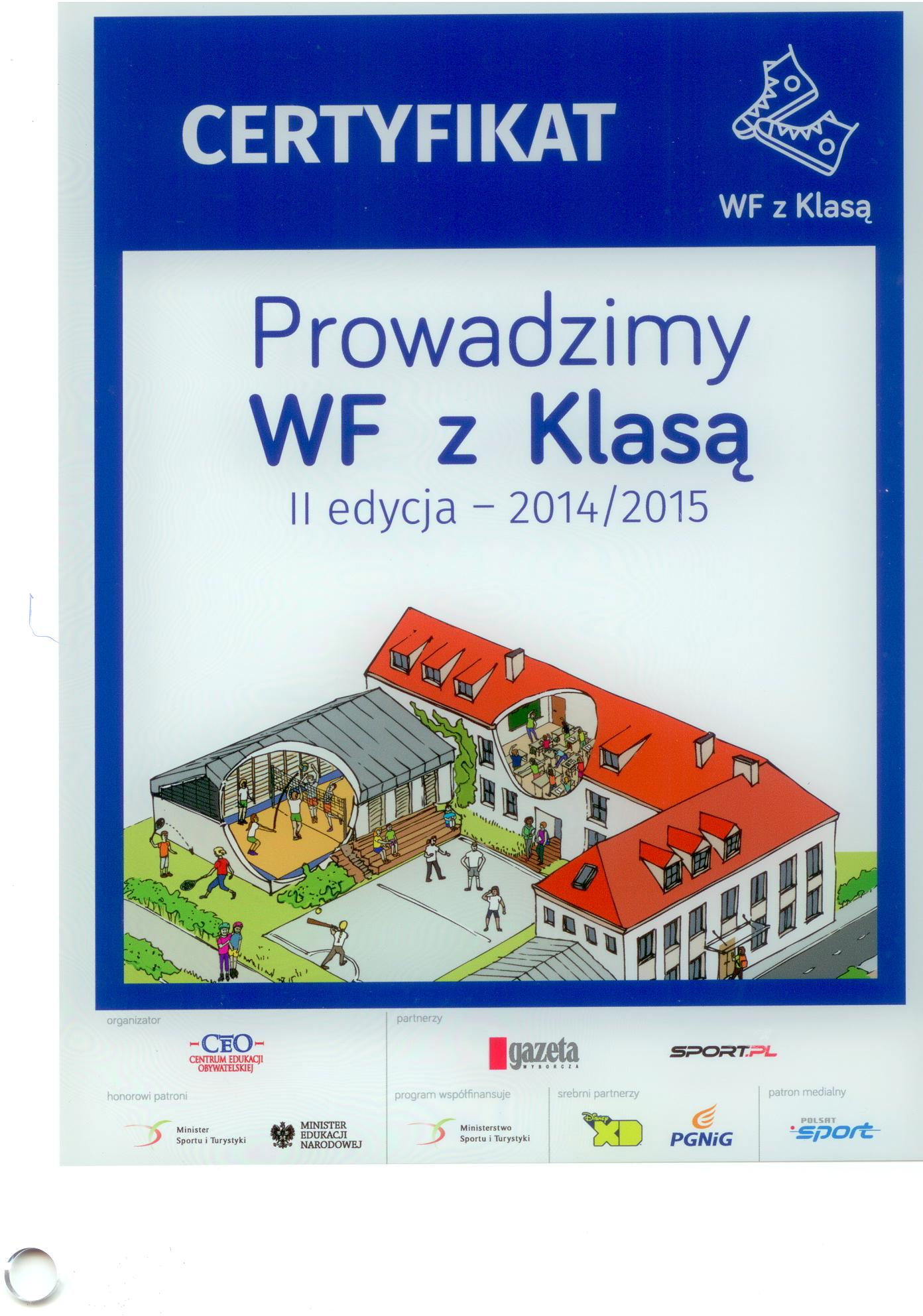 Certyfikat WF z Klasą